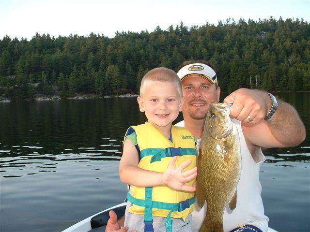 fishing at Bearskin Lodge